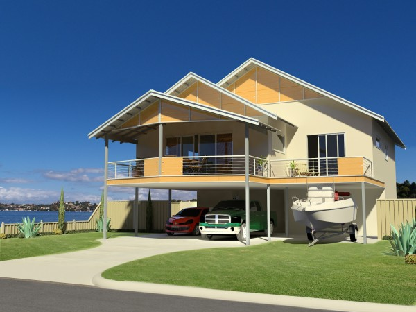 Eco kit homes for Double story beach house designs